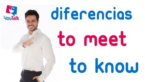 Diferencias entre know y meet en inglés